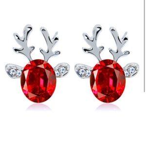 Holiday Christmas Reindeer earrings stud